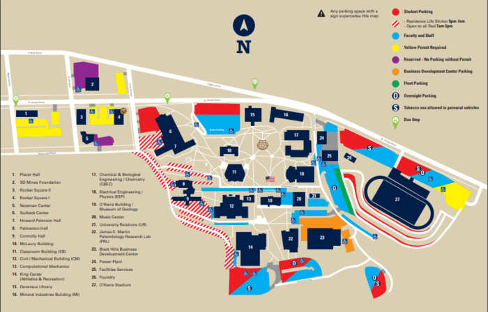Here is a map of the campus.