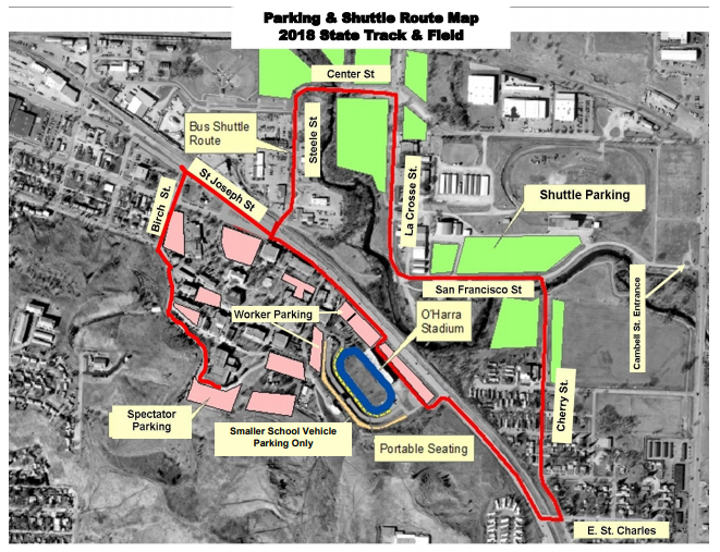 Here is a map of the shuttle route.